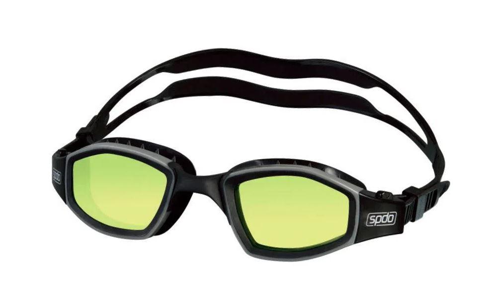 Óculos De Natação Speedo Invictus Preto Lente Amarelo