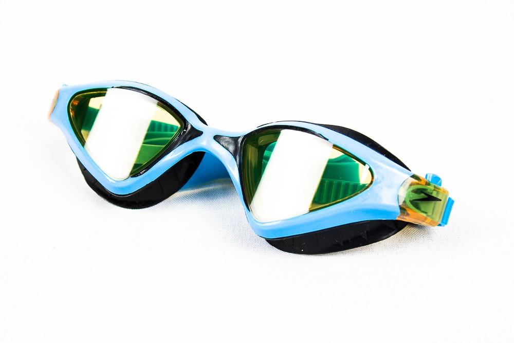 Óculos de Natação Speedo Meteor Azul e Laranja Lente Ambar