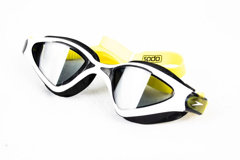 Óculos de Natação Speedo Meteor Preto e Amarelo Lente Fumê
