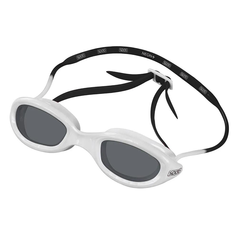 Óculos de Natação Speedo Neon Plus Branco e Preto Lente Fumê