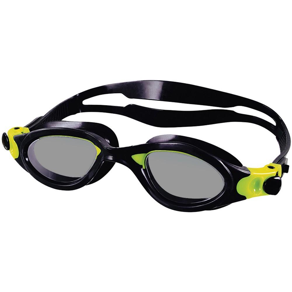 Óculos de Natação Speedo Phanton Pt e Amarelo Lente Fumê