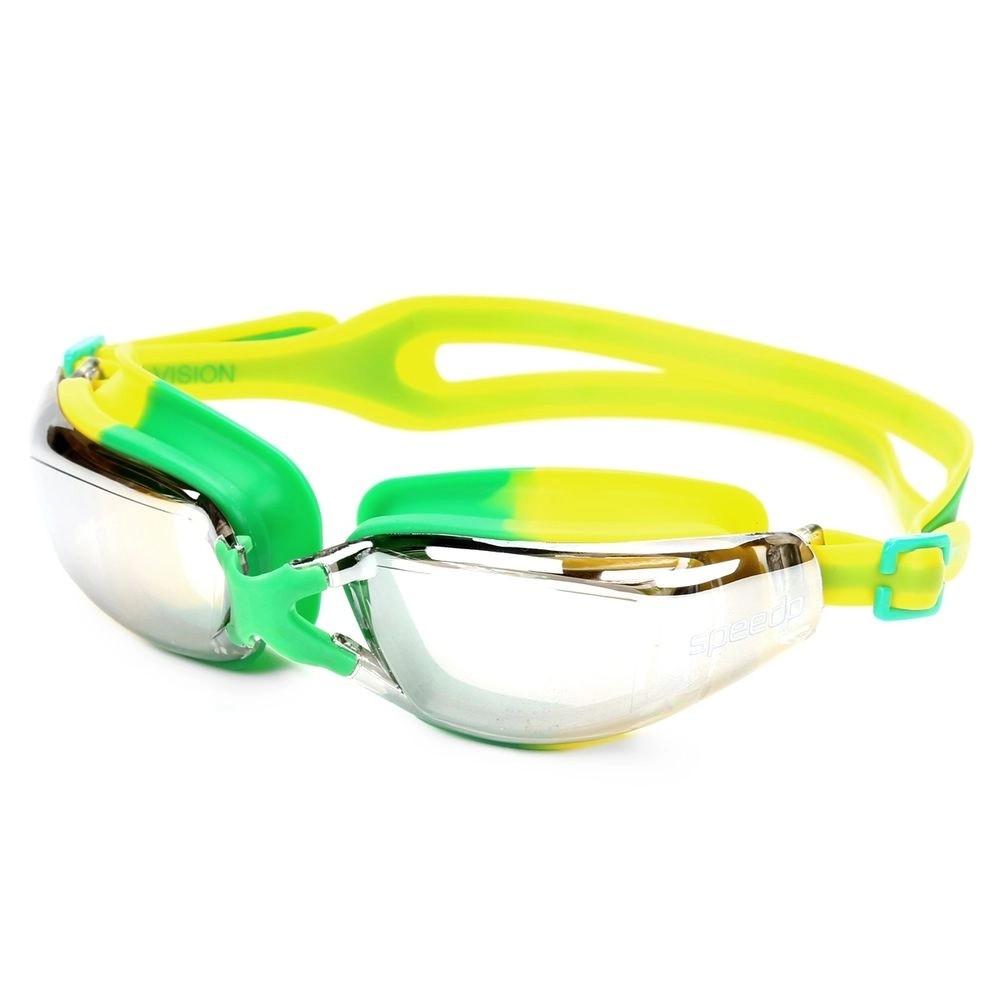 Óculos de Natação Speedo Xvision Verde Amarelo Lente Espelha