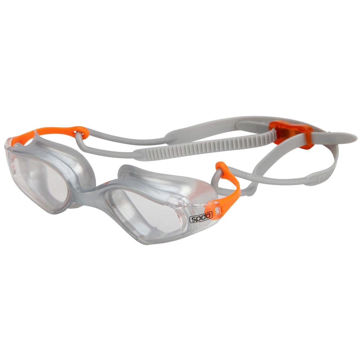Óculos de Natação Speedo Zoom Prata e Laranja Lente Fumê