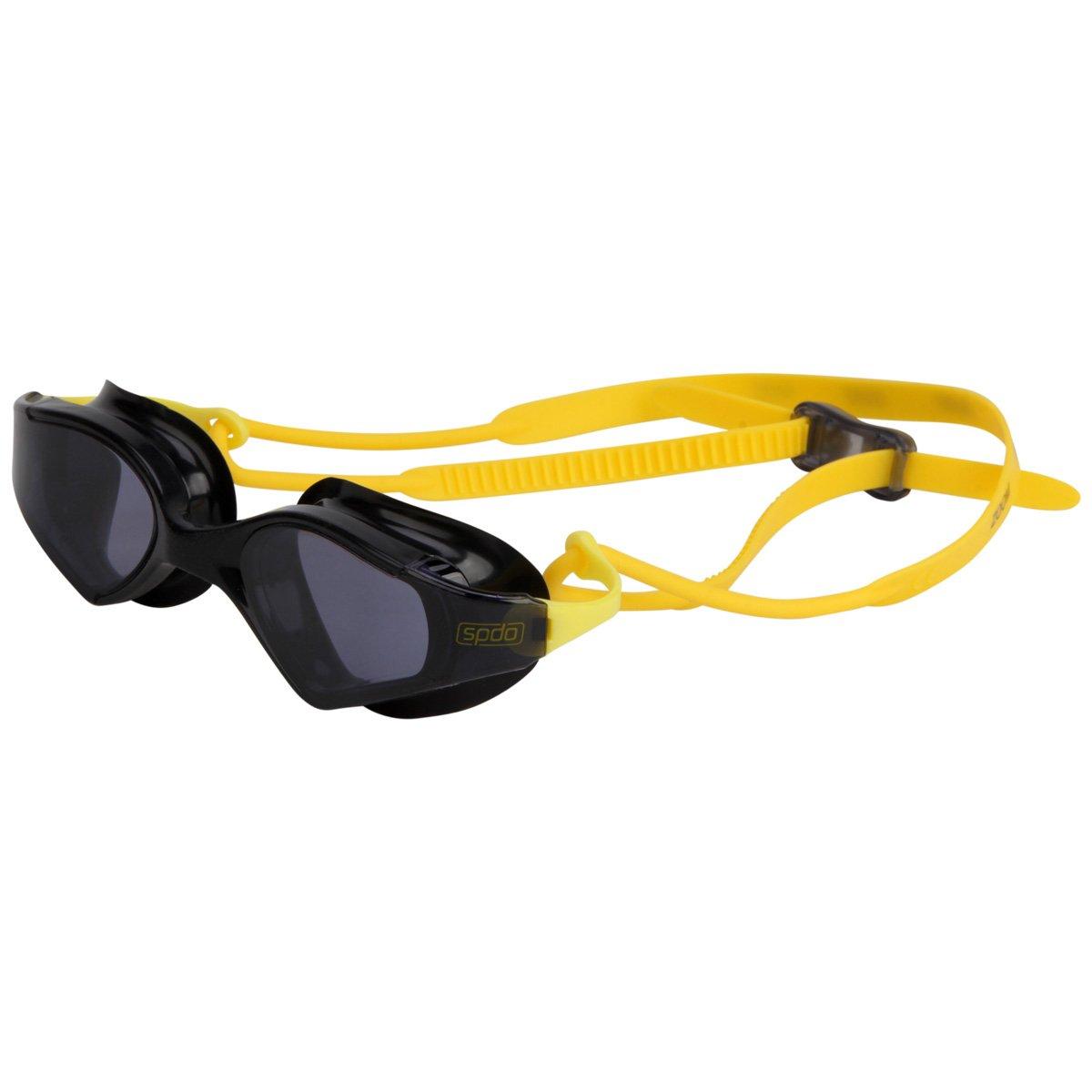 Óculos de Natação Speedo Zoom Preto e Amarelo Lente Fumê