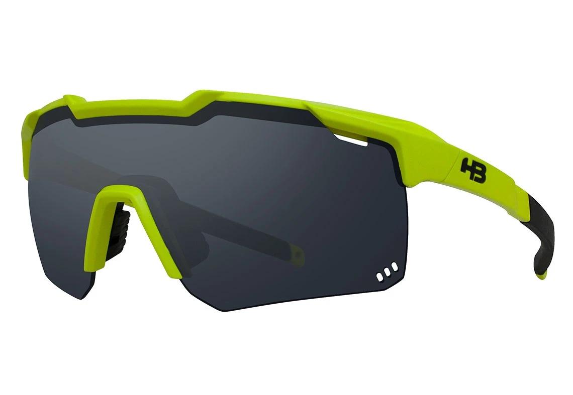 Óculos de Sol HB Shield Road Amarelo Lente Preto