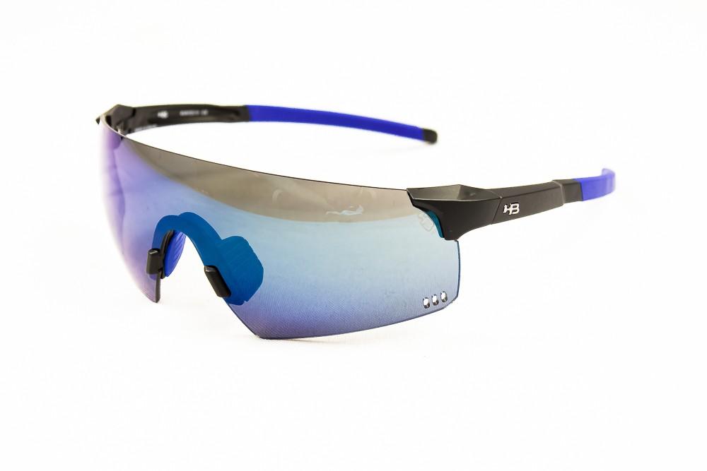 Óculos HB Quad R Preto Azul Lente Azul Fumê Bike Ciclismo