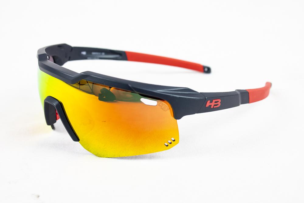 Óculos Hb Shield Evo Mountain Azul Navy Lente Mult Red