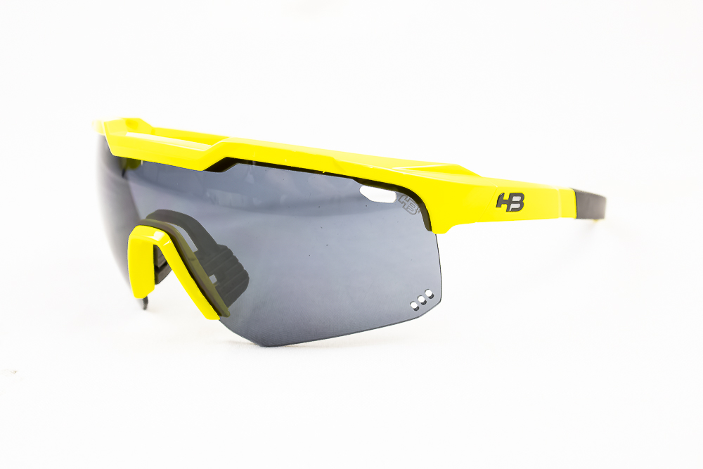 Óculos Hb Shield Evo Road Amarelo e Preto Lente Fumê