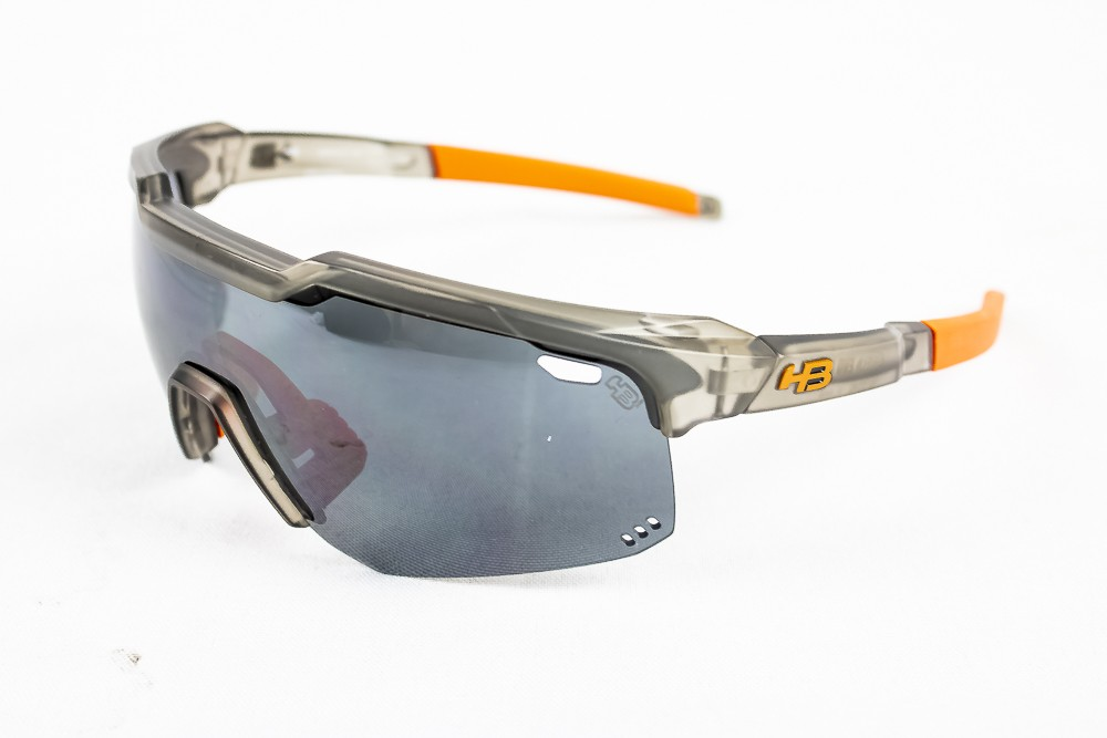 Óculos Hb Shield Evo Road Cinza e Vermelho Lente Fumê