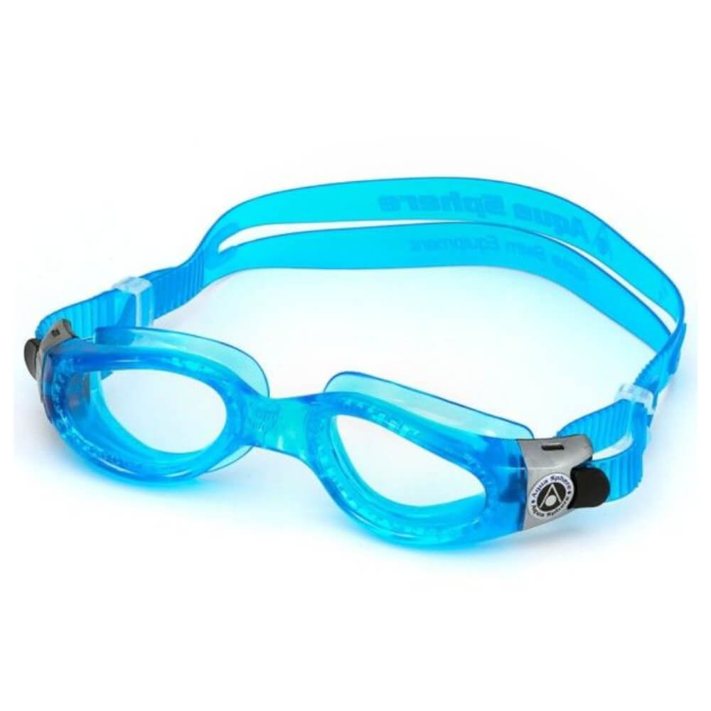 Óculos Natação Aqua Sphere Kaiman Compact Fit Azul e Transpa