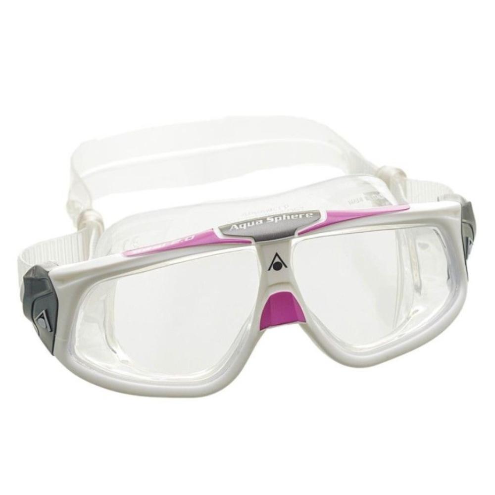 Óculos Natação Aqua Sphere Seal 2.0 Branco Lilás Transparent