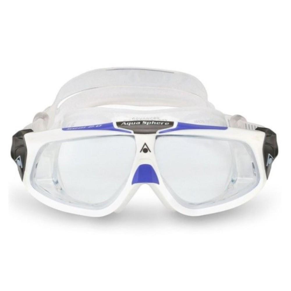 Óculos Natação Aqua Sphere Seal 2.0 Branco Roxo Transparente