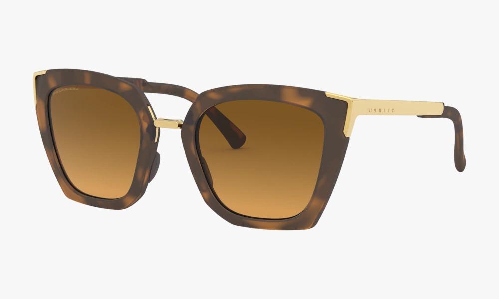 Óculos Oakley Feminino Sideswept Matte Brown Polarizado