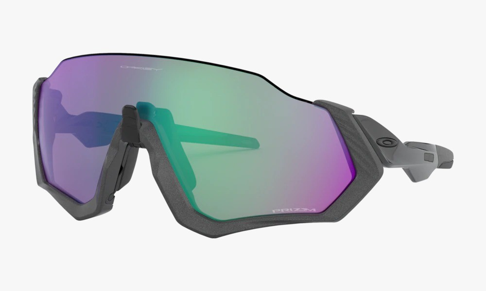 Óculos Oakley Flight Jacket Matte Steel Prizm Road Jade