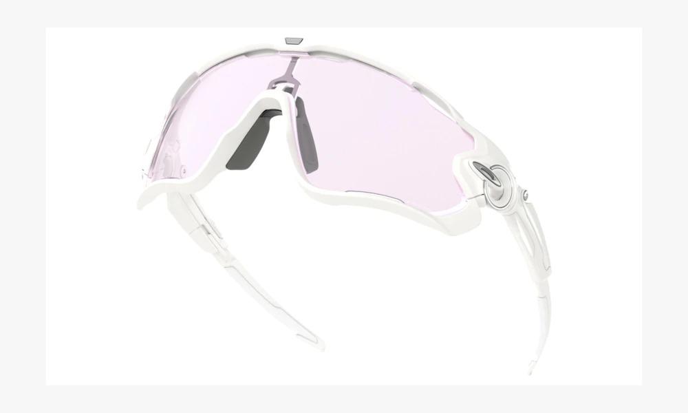 Óculos Oakley Jawbreaker Polished White + Lente Reposição Black Iridium
