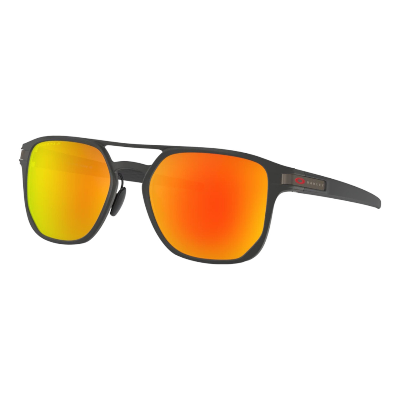 Óculos Oakley Latch Alpha Matte Black Prizm Ruby Polarizado
