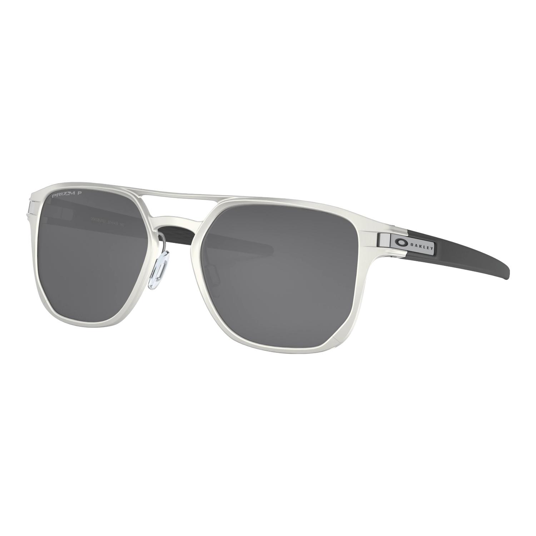 Óculos Oakley Latch Alpha Matte Silver Prizm Blk Polarizada