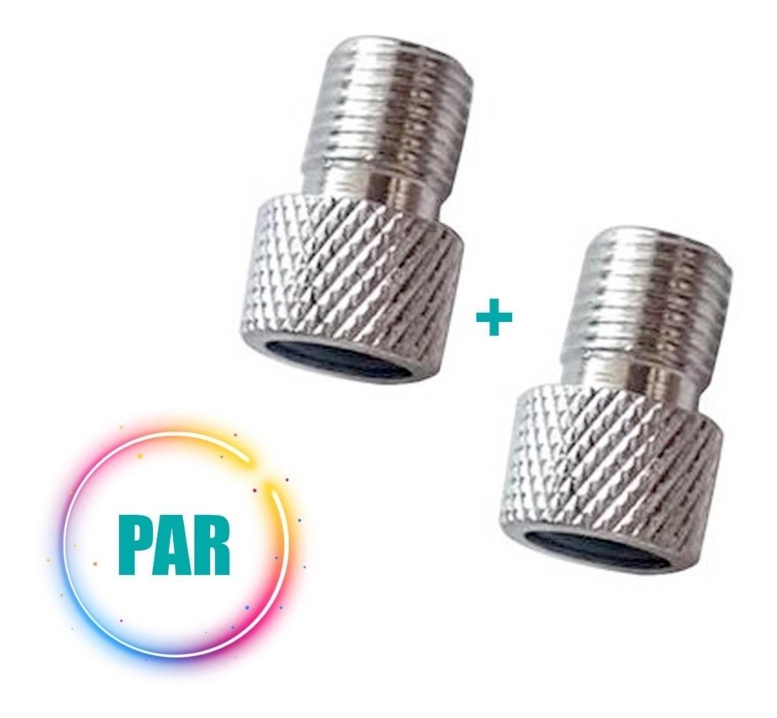 Par Adaptador de Válvula Presta para Schrader Alumínio