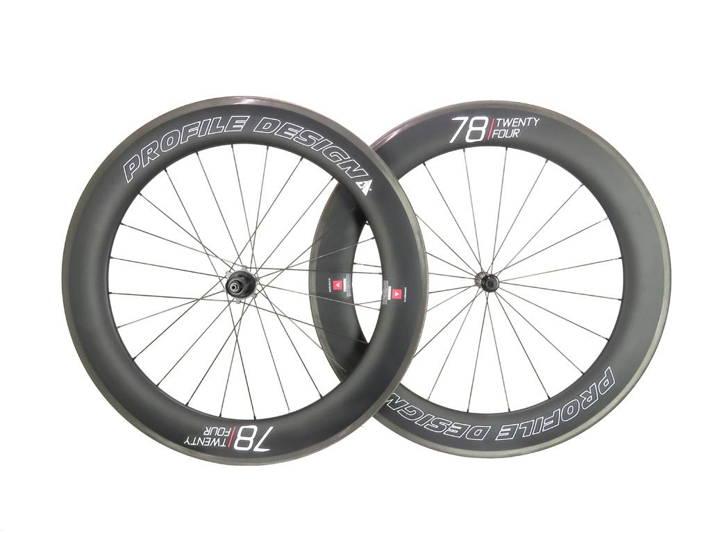 Par de Rodas Profile Design 78 Twenty Four Full Carbono 11v