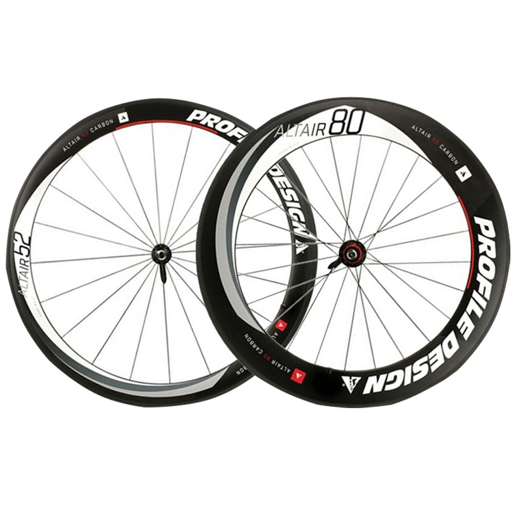 Par de Rodas Profile Design Full Carbon 80/52 606 Clincher