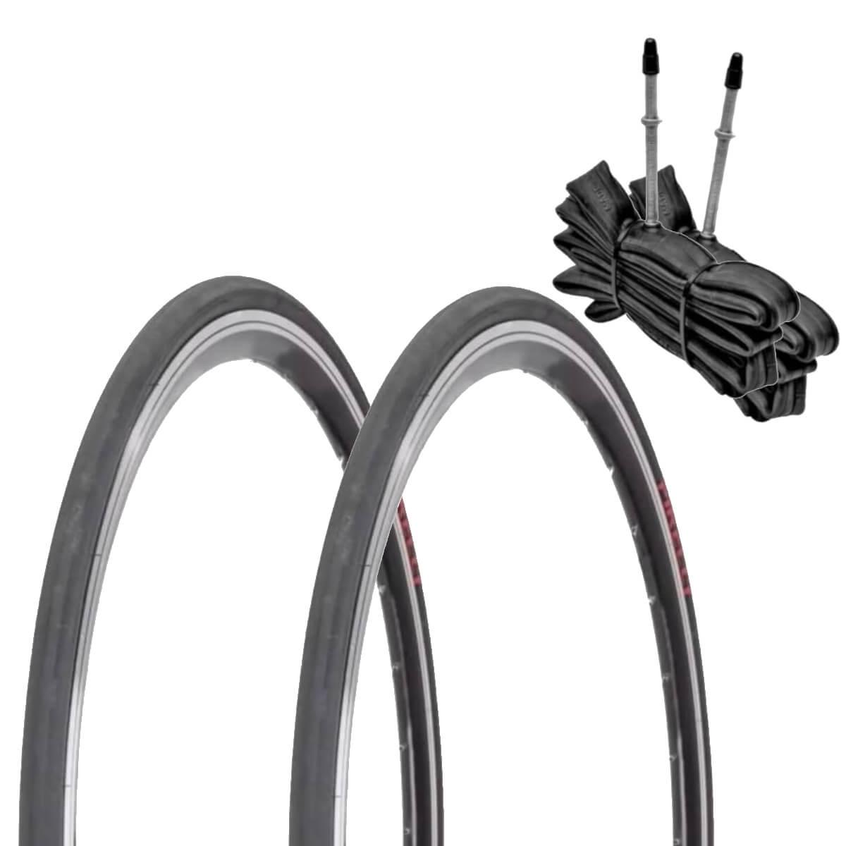 Par Pneu Speed Pirelli Corsa Pro com Arame 700x23 e Câmara
