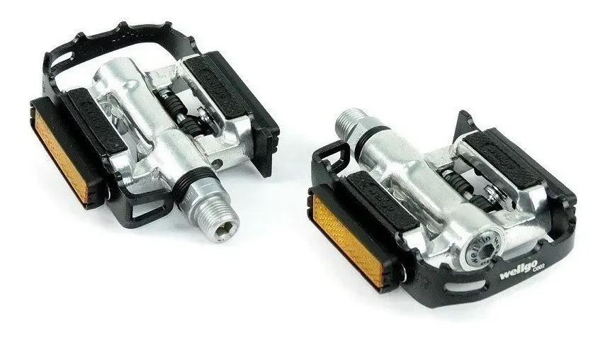 Pedal Duplo Clip Plataforma Wellgo C002 Mtb 9/16