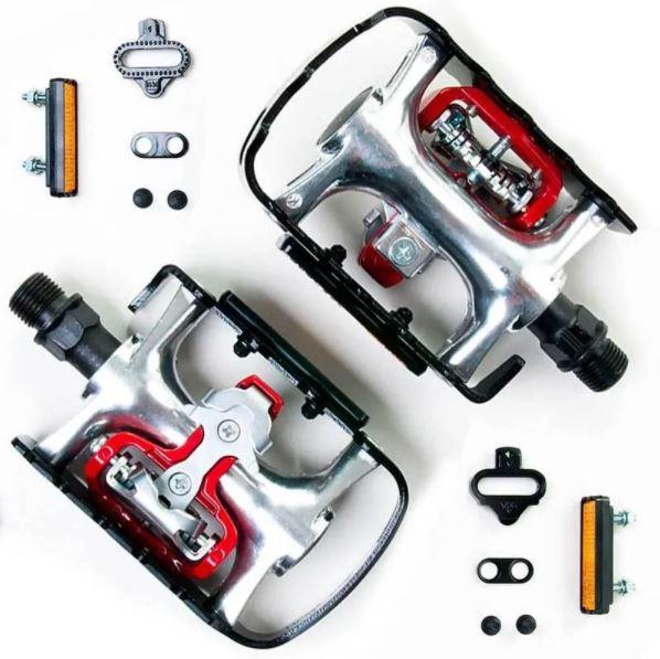 Pedal Wellgo M998 Mtb Clip Misto Aluminio Bike Preto