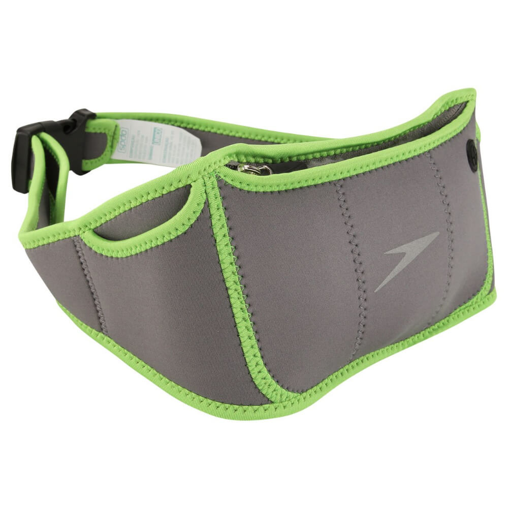 Pochete Speedo Para Corrida Slim Fit Cinza e Verde