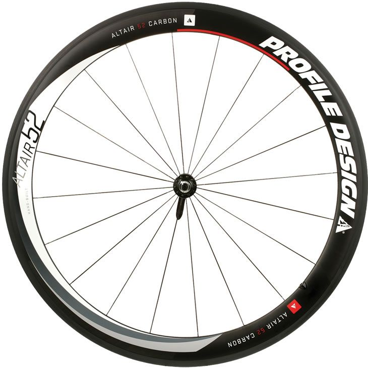 Roda Dianteira Profile Design Altair 52 Full Carbon Clincher