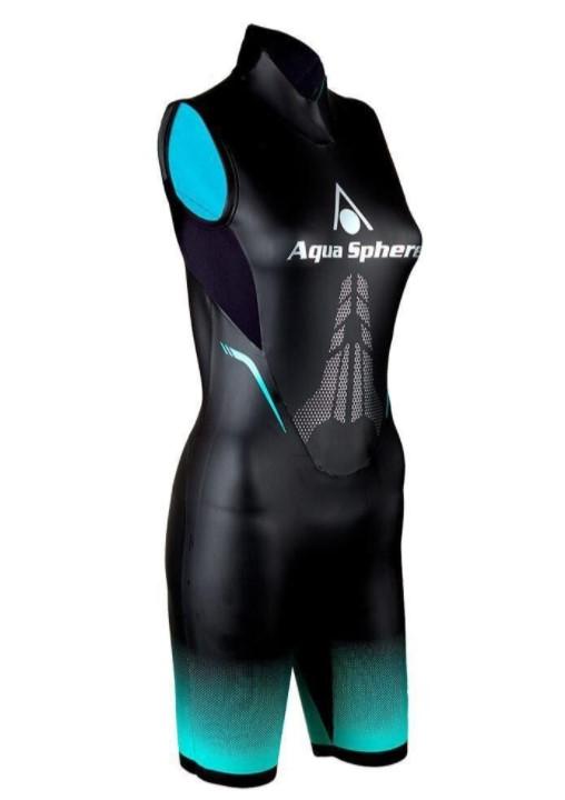 Roupa de Borracha Aqua Sphere Aqua Skin 2.0 Short Feminina