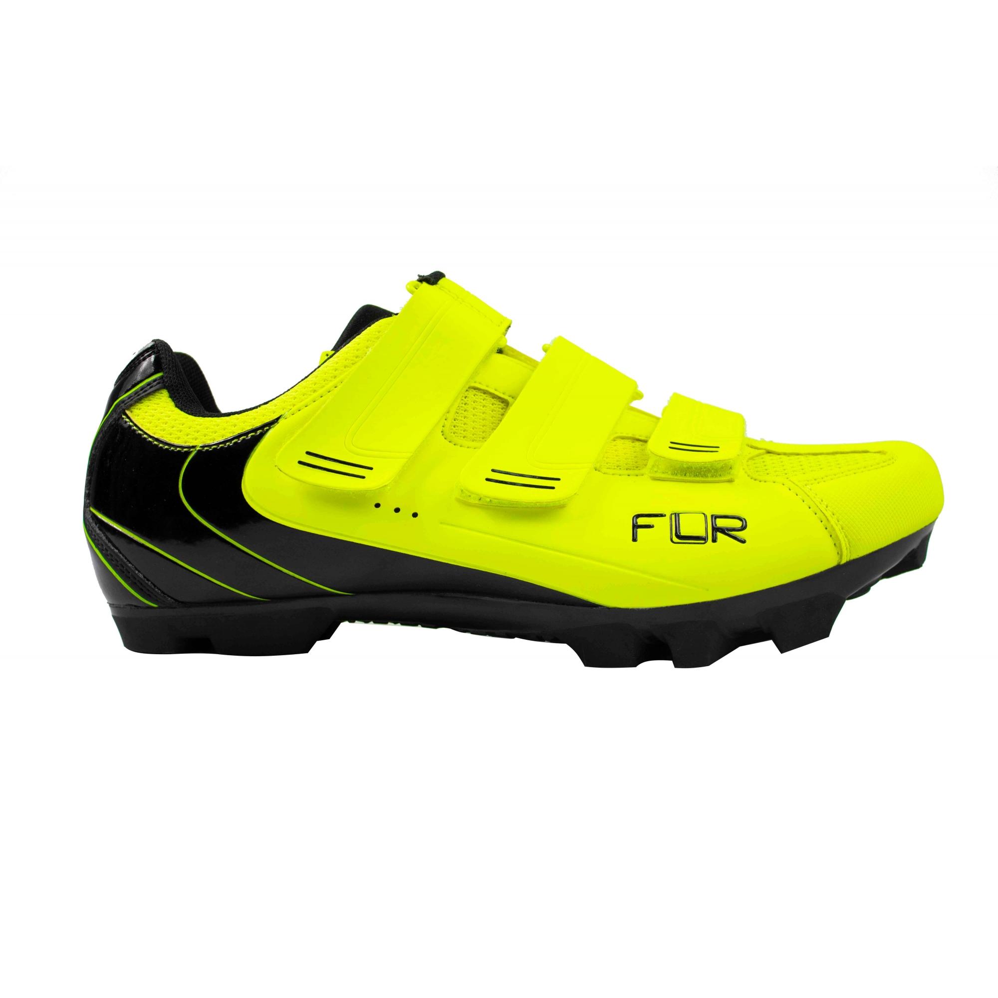 Sapatilha Ciclismo Mtb Flr F-55 Unissex Amarelo Flúor