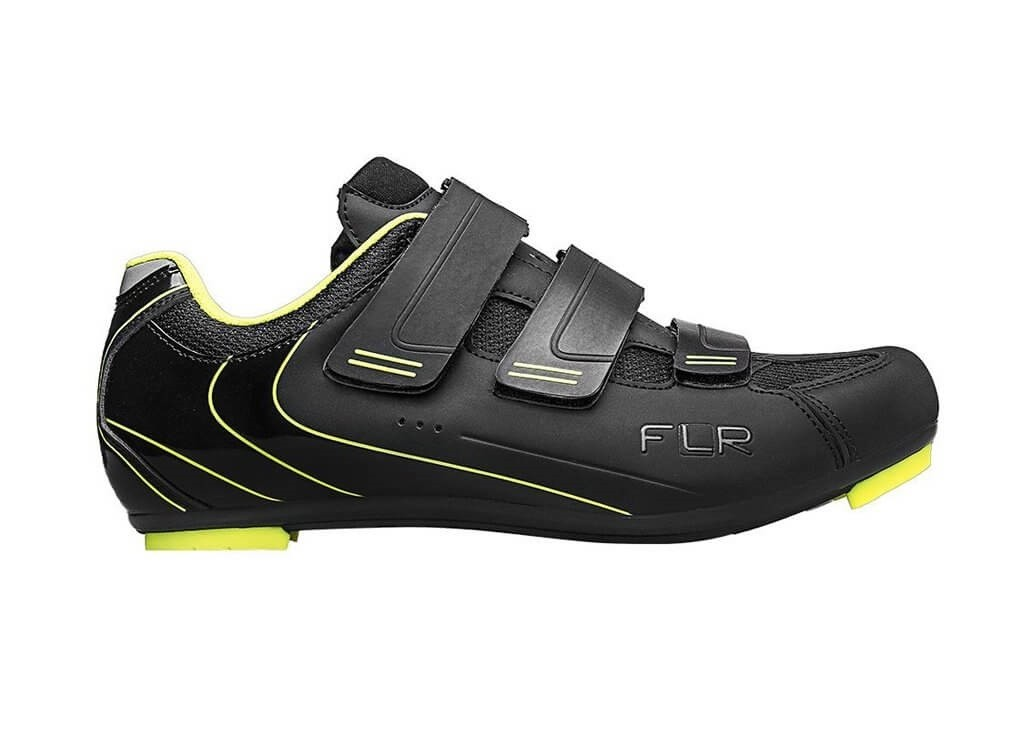 Sapatilha Ciclismo Speed FLR Pro F-35 Preta Amarela Neon