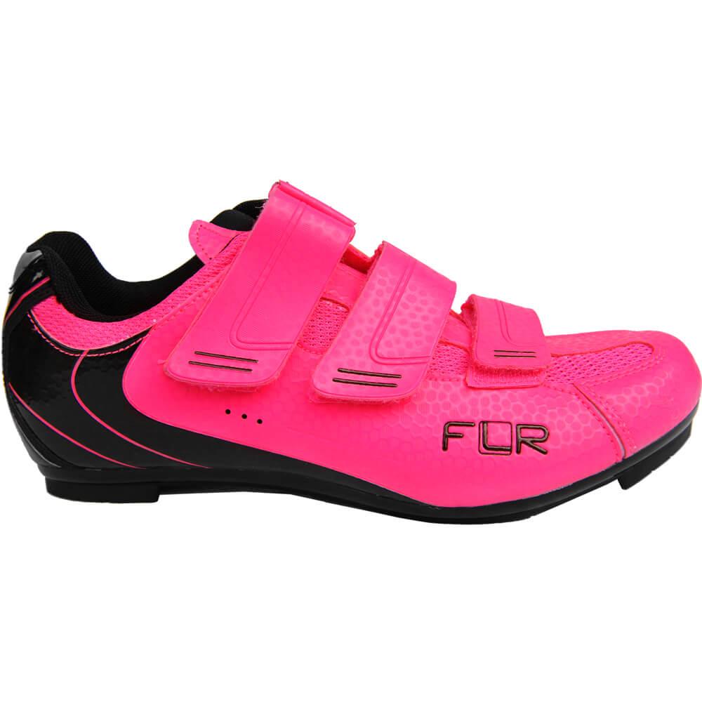 Sapatilha FLR Road F-35 Rosa Flúor