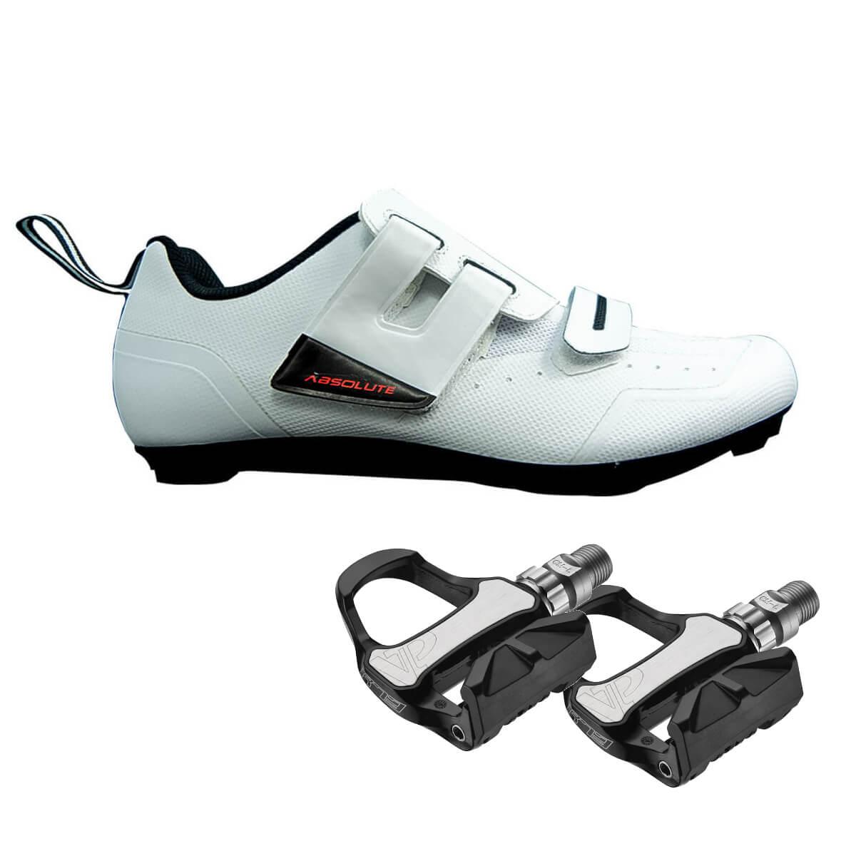 Sapatilha Triathlon Speed Absolute Triton 46 BR + Pedal R73H