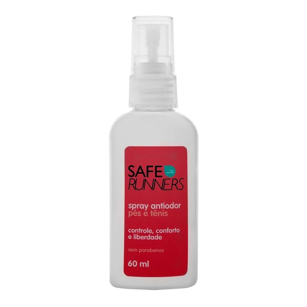 Spray Antiodor Safe Runners para Pés e Tênis 60ml