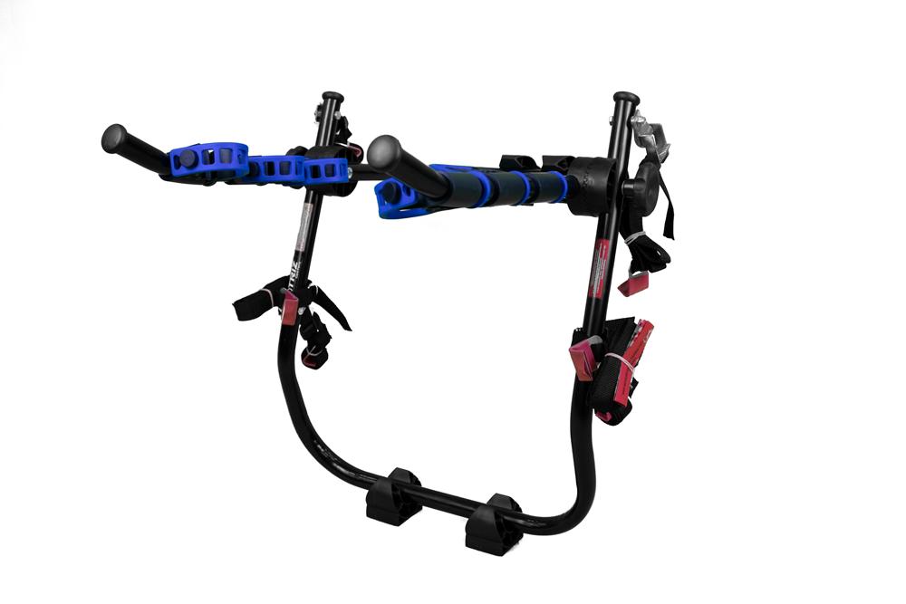 Suporte Transbike Triz de 3 Bikes Apoio Sedan ou Hatch Azul