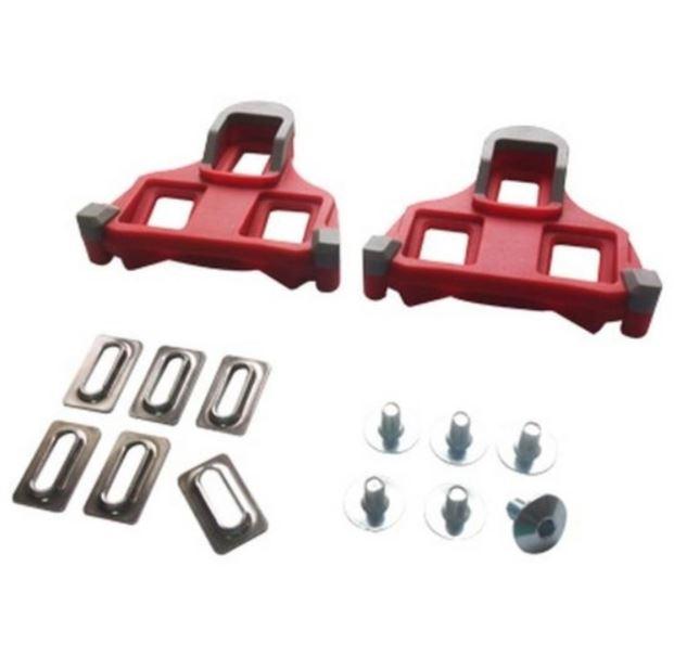Taco Speed Pedal Compatível Shimano 6 Graus Vermelho