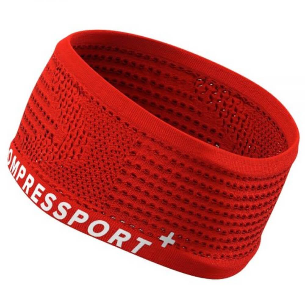 Testeira Compressport Faixa de Cabeça Larga V2 New Vermelho