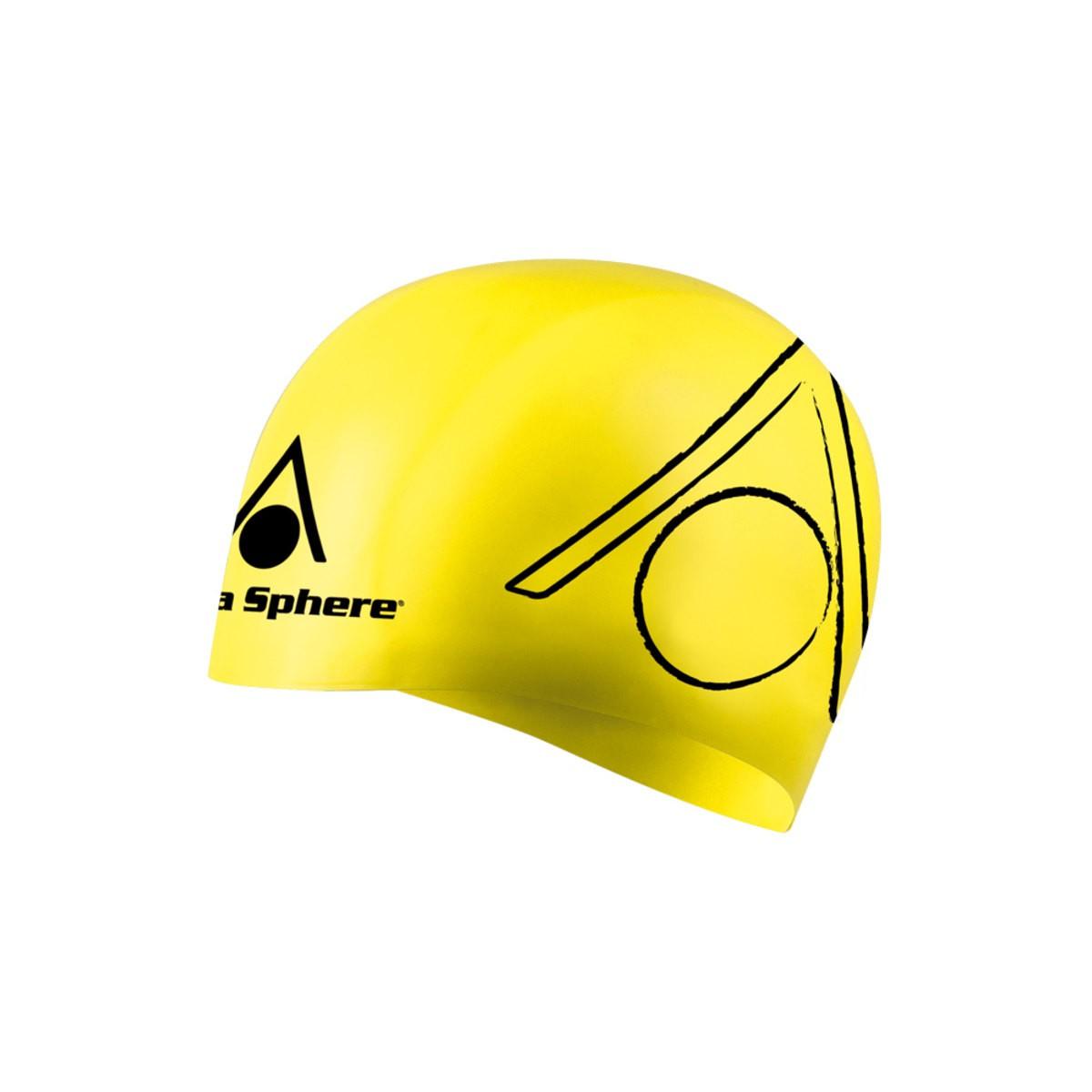 Touca de Natação Aqua Sphere Triathlon Amarelo e Preto