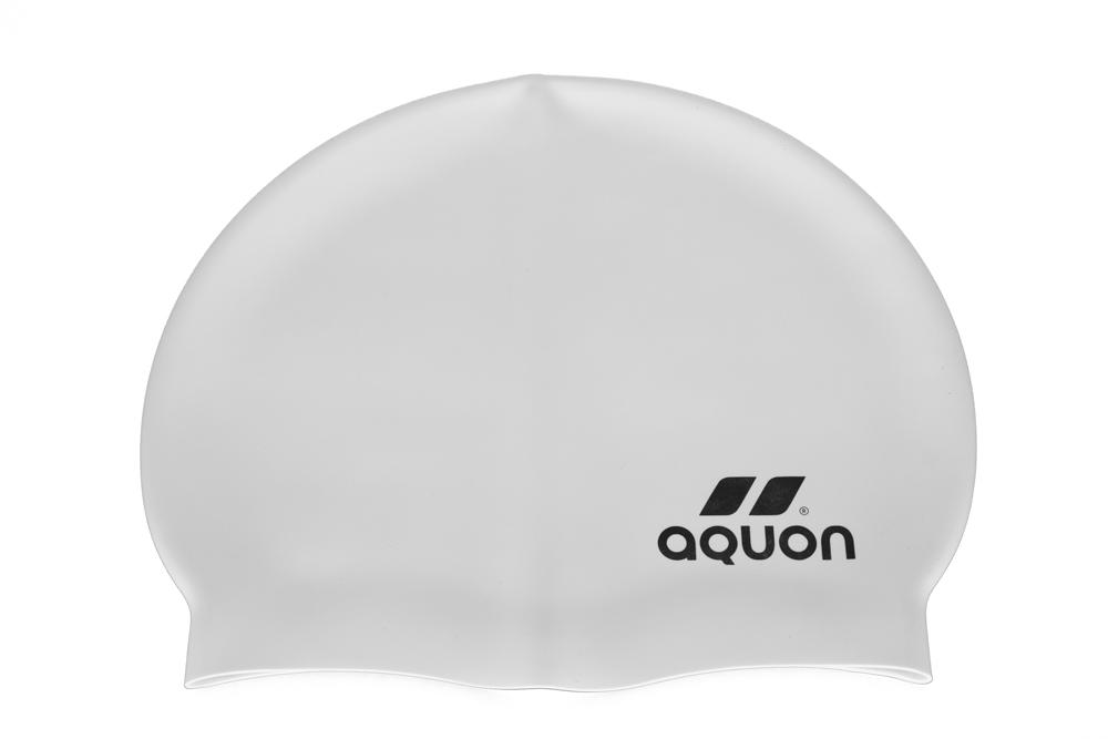 Touca de Natação de Silicone Aquon Branco