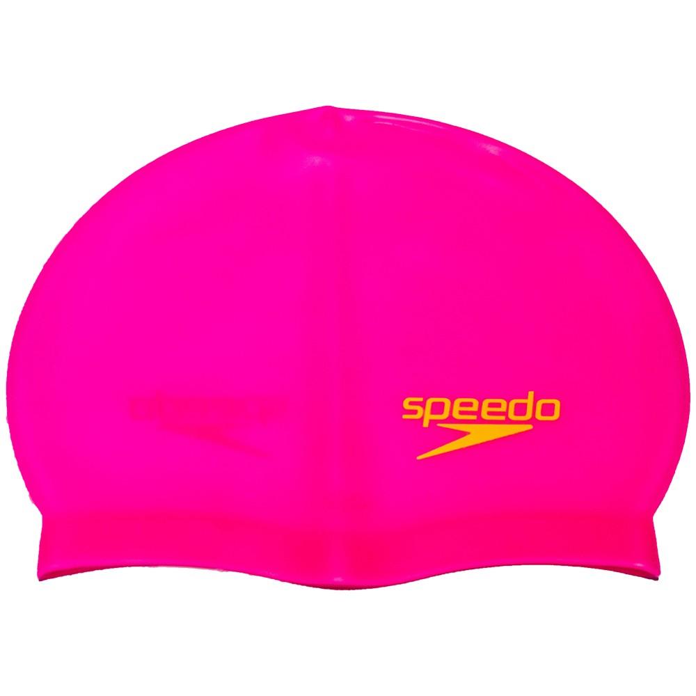 Touca de Natação Silicone Speedo Lisa Rosa-Neon