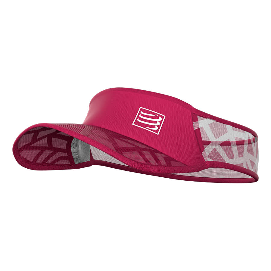 Viseira Compressport Ultralight Spiderweb Rosa