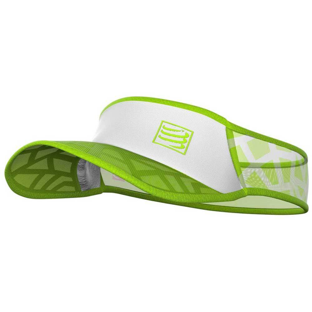 Viseira Compressport Ultralight Spiderweb Verde Branca