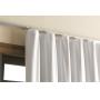 Cortina Blackout Corta Luz Plástico PVC Trilho 1,40x2,50m Bege Cinza Marka Textil