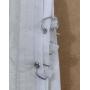 Cortina Blackout Corta Luz Plástico PVC Trilho 1,40x2,50m Branco Cinza Marka Textil