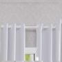 Cortina Corta Luz de Tecido 4,20x2,30m Branco Gelo- Bella Janela