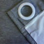 Cortina Corta Luz de Tecido Blend 4,20x2,50m Cinza - Bella Janela