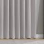Cortina Corta Luz Tecido Veludo 3,60x2,50m Titânio - Bella Janela