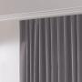 Cortina Inove Corta Luz de Tecido Blend Trilho Suisso 5,40x2,80m Cinza - Bella Janela