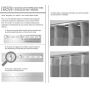Cortina Inove Duplex Bellini para Trilho Suisso 6,60 x 2,80m Branco - Bella Janela